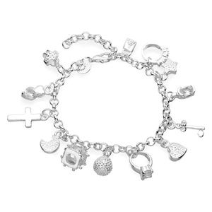 Jewelry - Urban Well Bred Sterling Silver Charm Bracelet